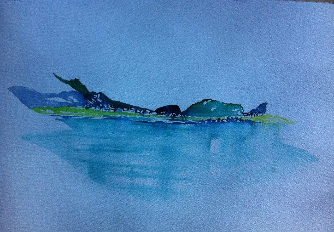 Aquarell Silser See, Kontraste