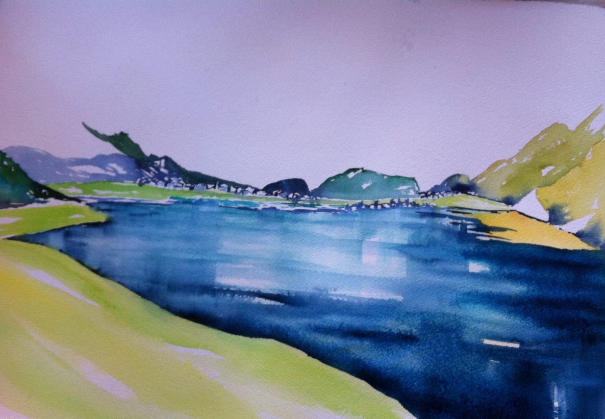 Die Uferlinie des Silser Sees