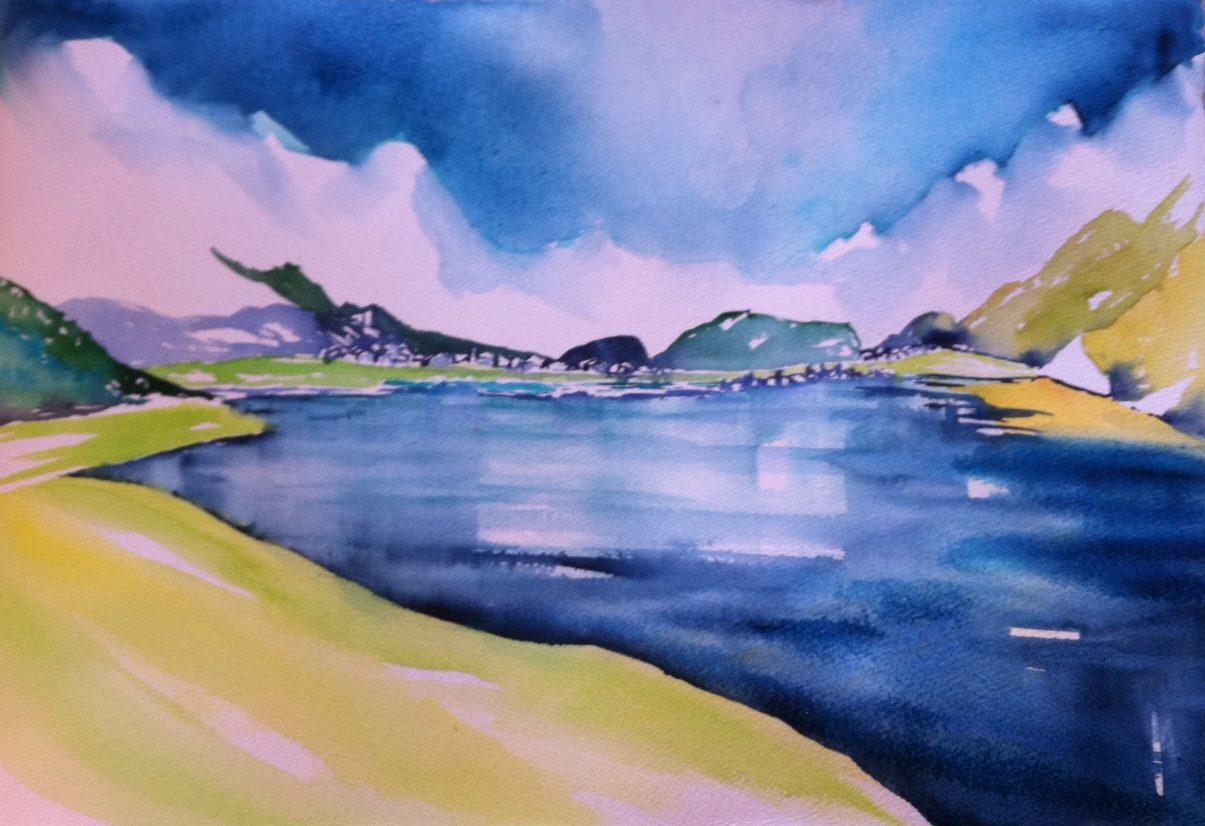 Berge am Silser See