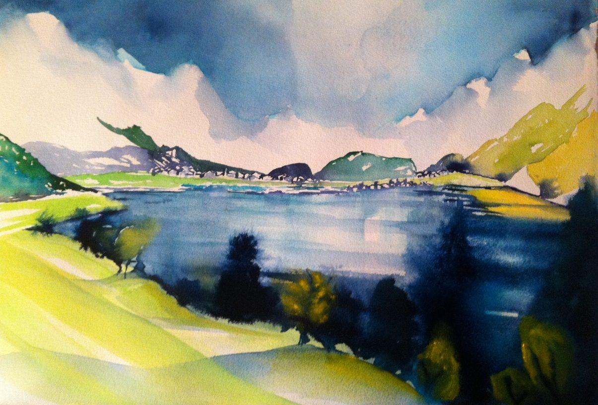 Silser See von Irene Lanz: fast fertig